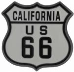 US 66 California Shield Belt Buckle with display stand (JK6)
